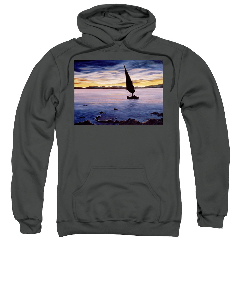 Seascape Sweatshirt featuring the painting Sea Of Souls by Mark Cawood