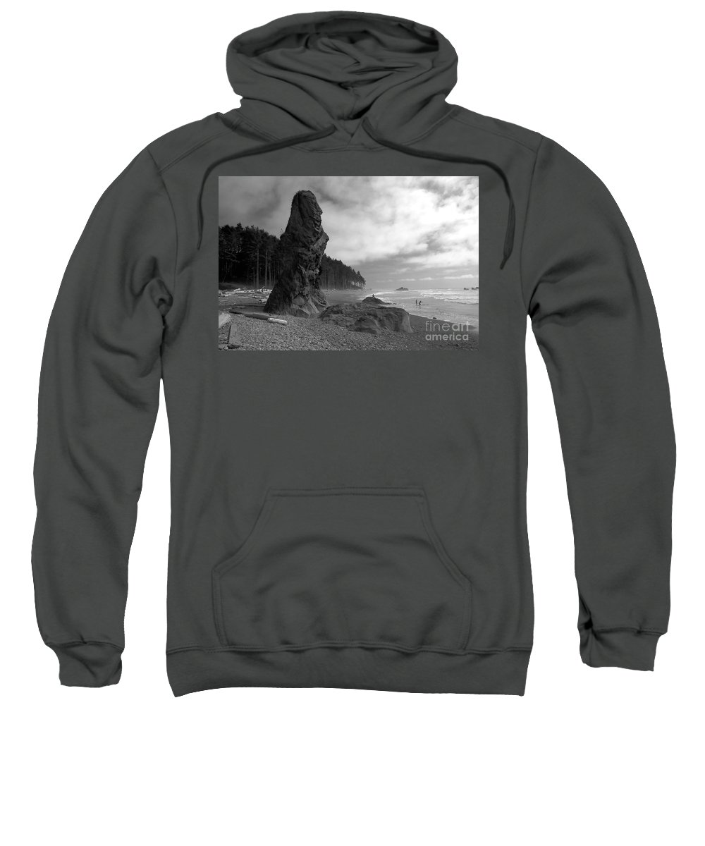 Sea Stack Sweatshirt featuring the photograph Sea Stack by David Lee Thompson
