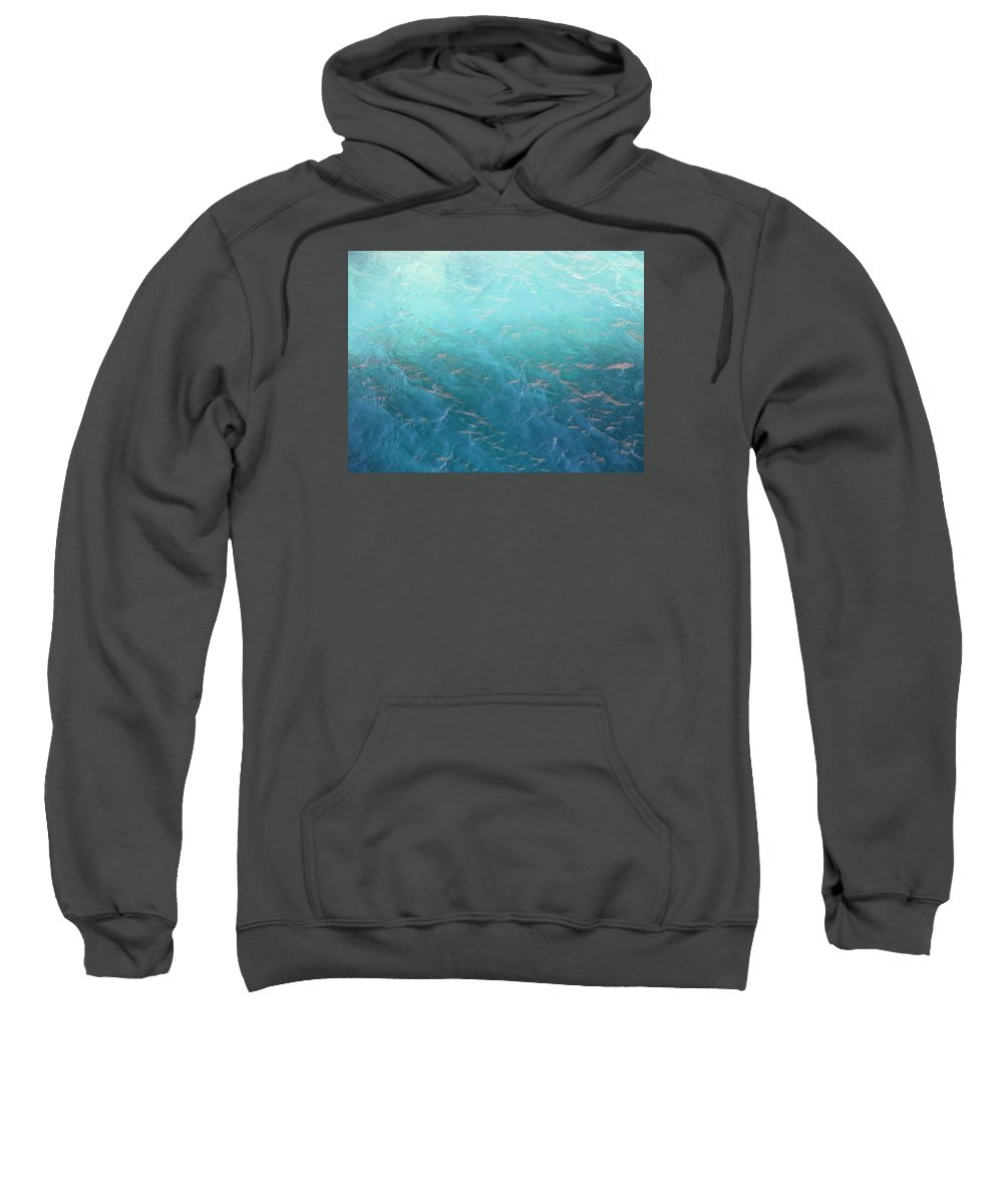 Caribbean Sweatshirt featuring the photograph Sea Study by Lin Grosvenor