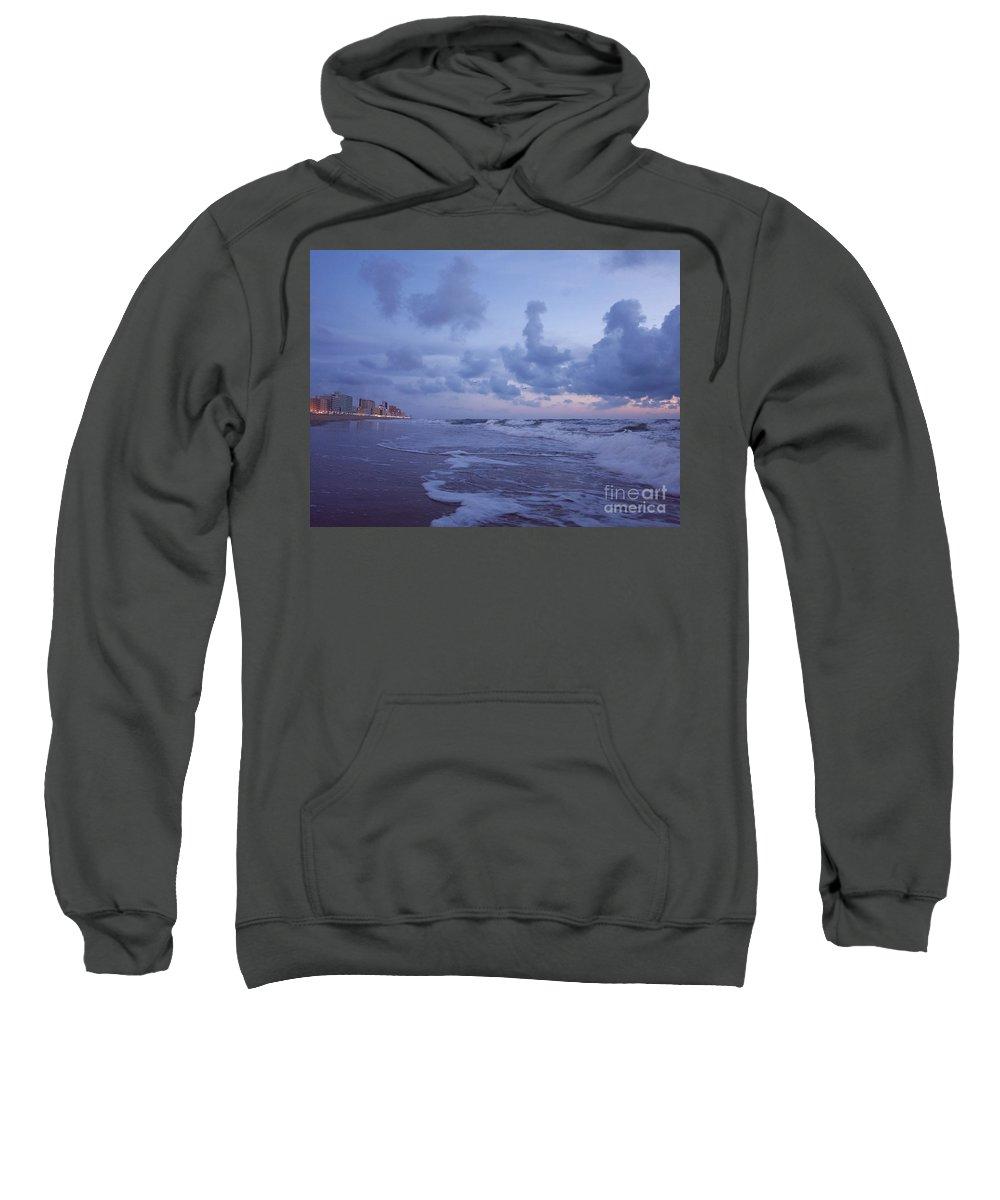 Beach Sweatshirt featuring the photograph Seascape Lights by Rachel Morrison