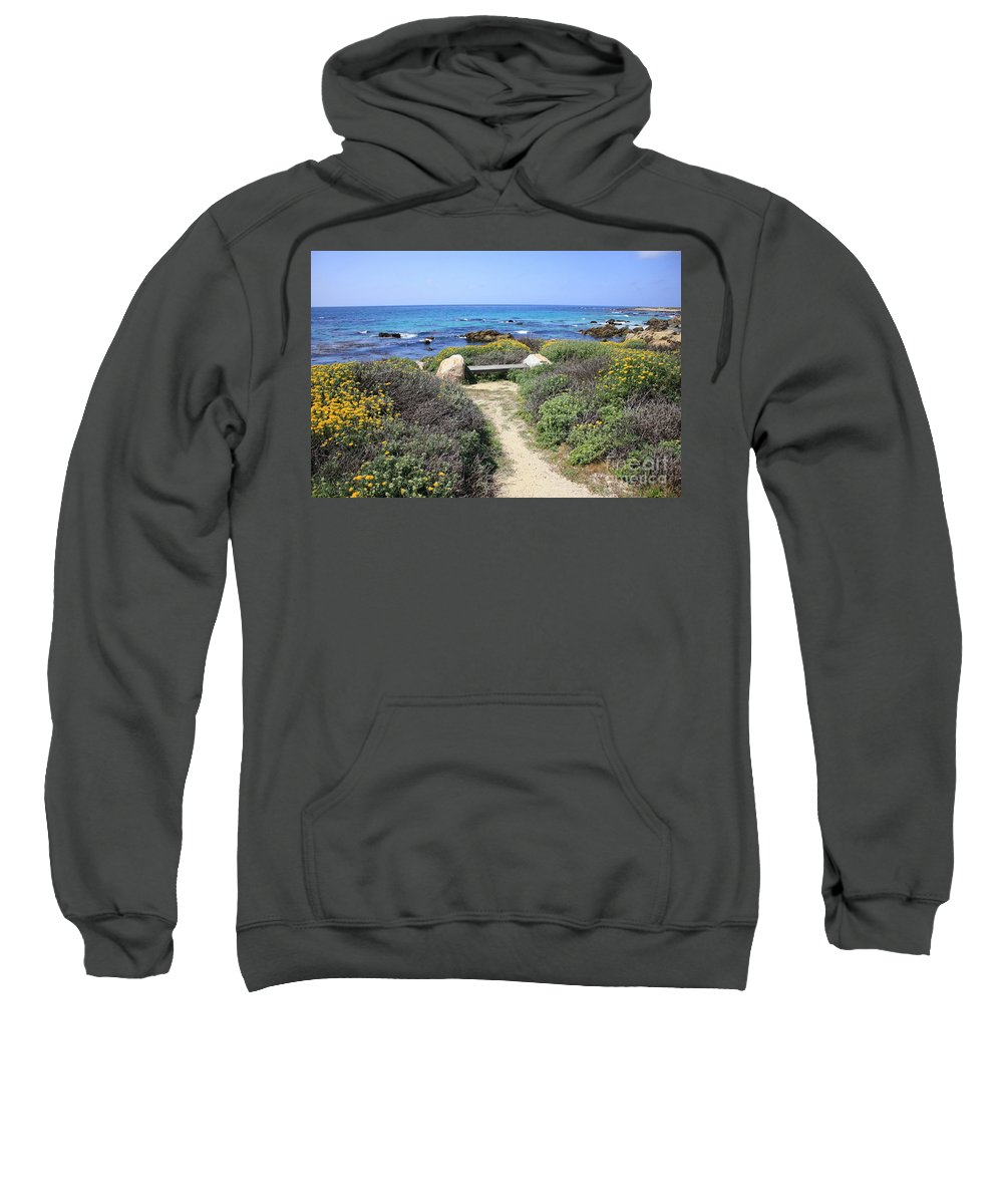 Landscape Sweatshirt featuring the photograph Seaside Bench by Carol Groenen