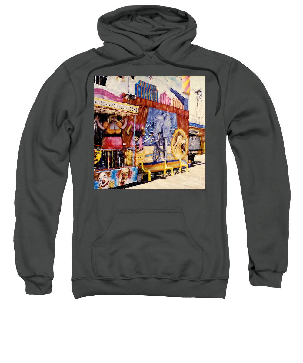 Boardwalk Sweatshirt featuring the photograph Seaside New Jersey by Keith Dillon