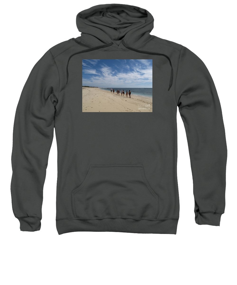 Madagascar Sweatshirt featuring the photograph Seaside Walk Nosy Ve Madagascar by Rossano Ossi