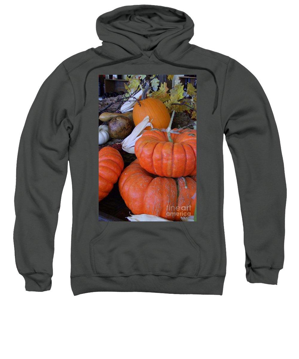 Orange Sweatshirt featuring the photograph Seasonal Giants by Mary Deal