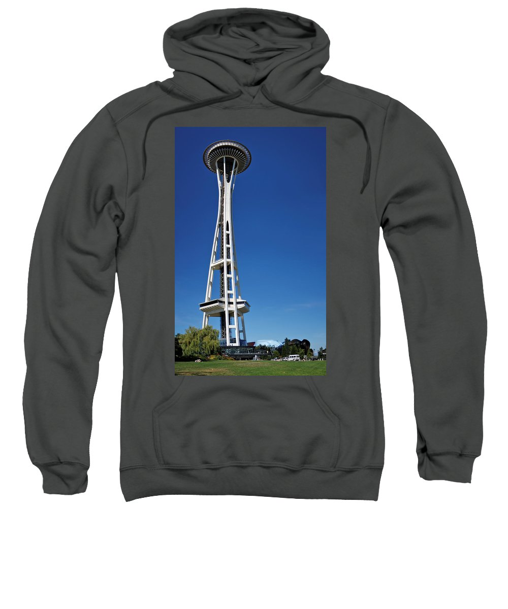 3scape Sweatshirt featuring the photograph Seattle Space Needle by Adam Romanowicz