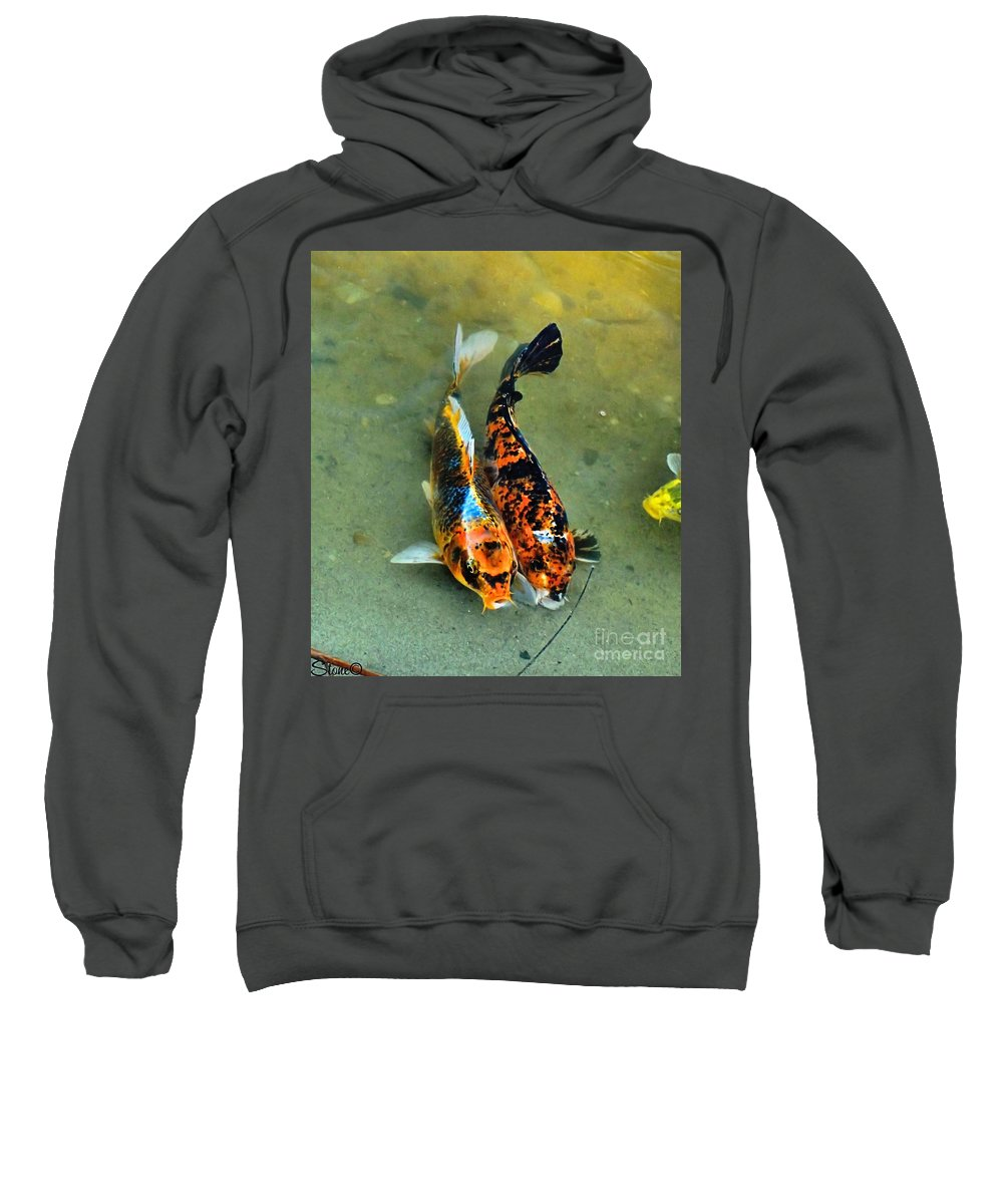 Koi Sweatshirt featuring the photograph Secrets Of The Wild Koi 15 by September Stone