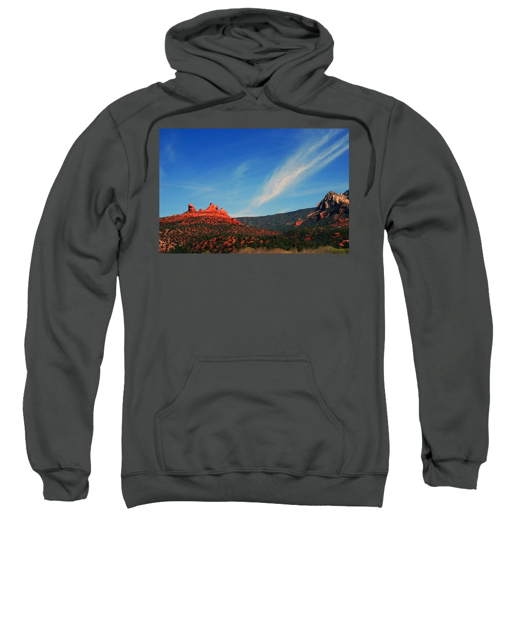 Photography Sweatshirt featuring the photograph Sedona Clouds by Susanne Van Hulst
