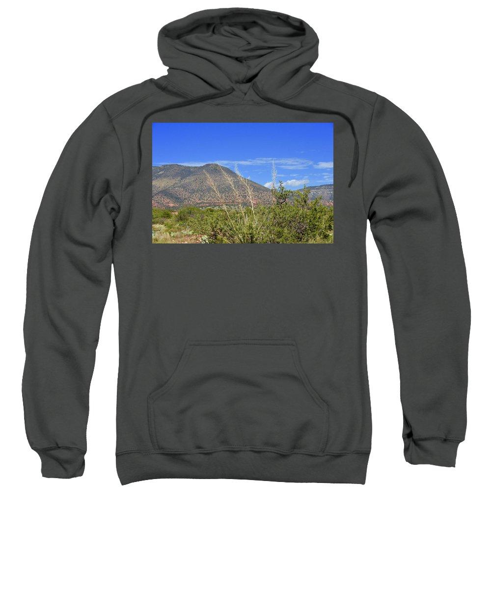 Sedona Sweatshirt featuring the photograph Sedona Hills by Barbara Stellwagen