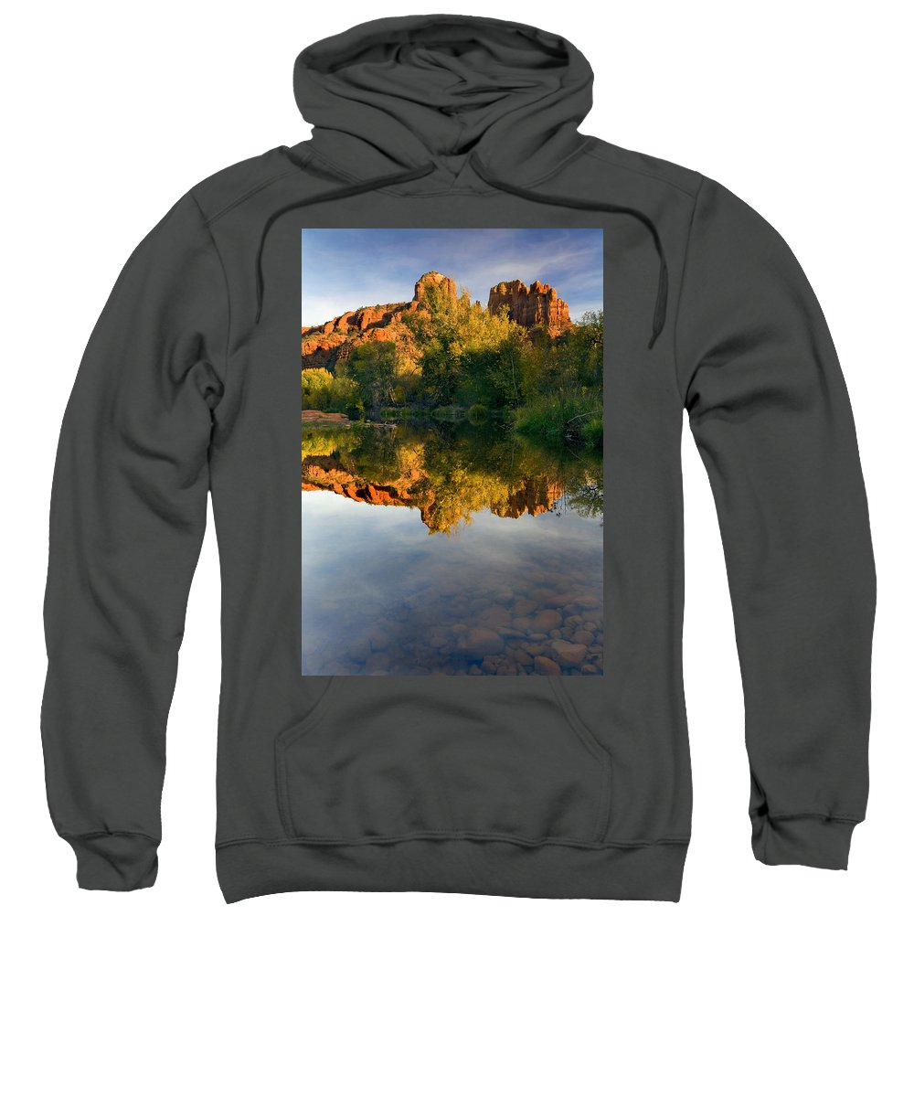 Reflection Sweatshirt featuring the photograph Sedona Sunset by Mike Dawson