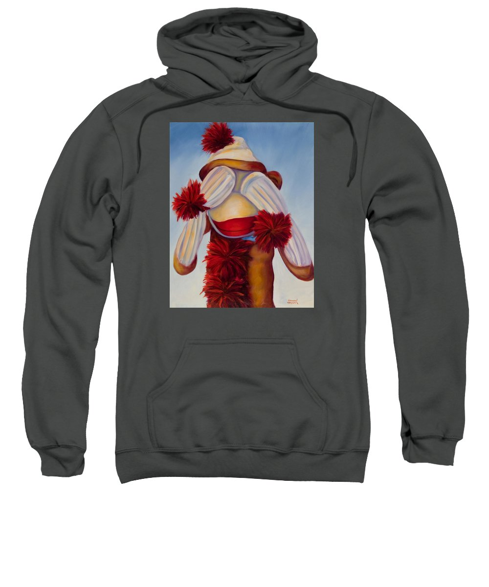 Children Sweatshirt featuring the painting See No Bad Stuff by Shannon Grissom