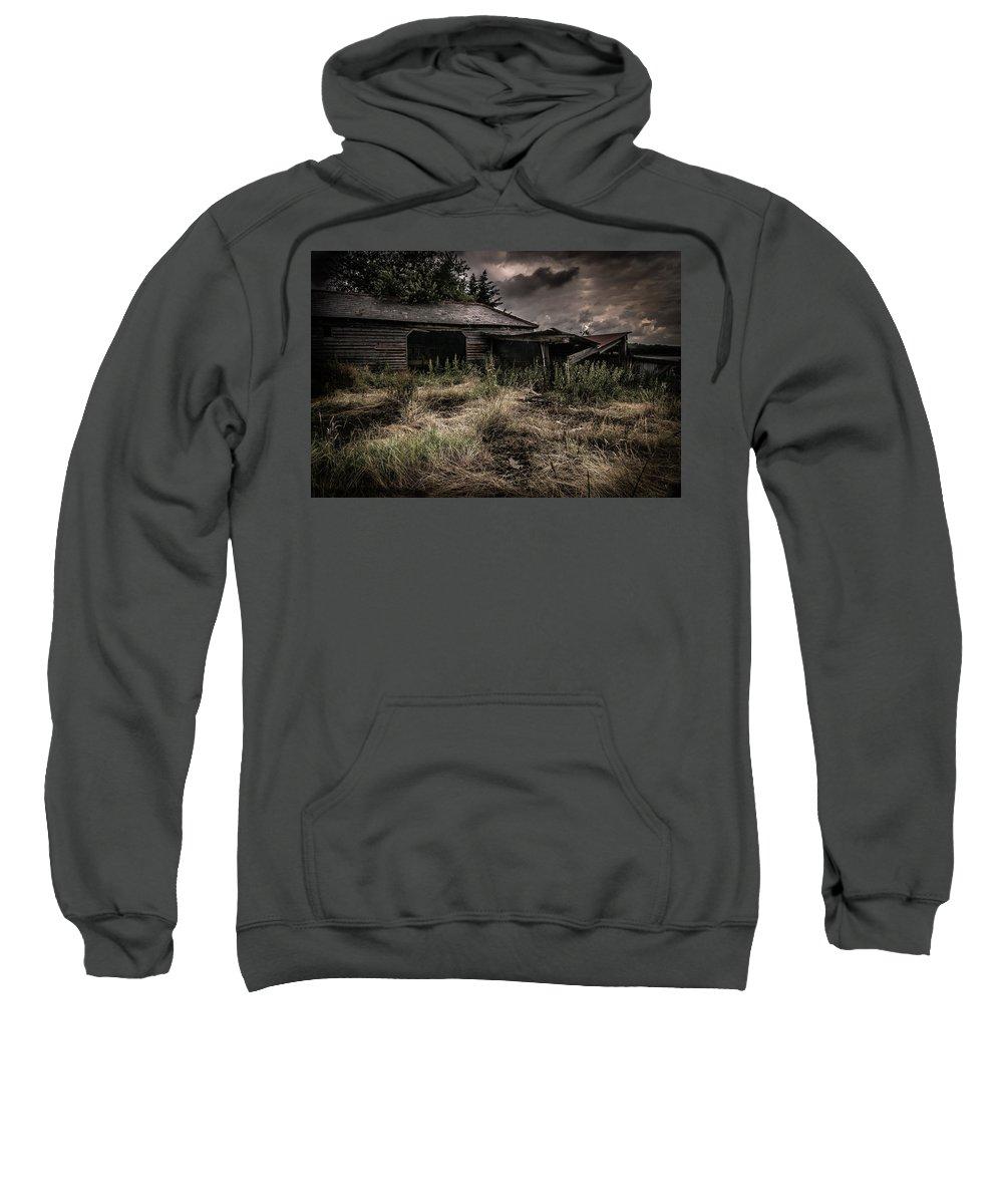 England Sweatshirt featuring the photograph Seen Better Days by Peter Hayward Photographer