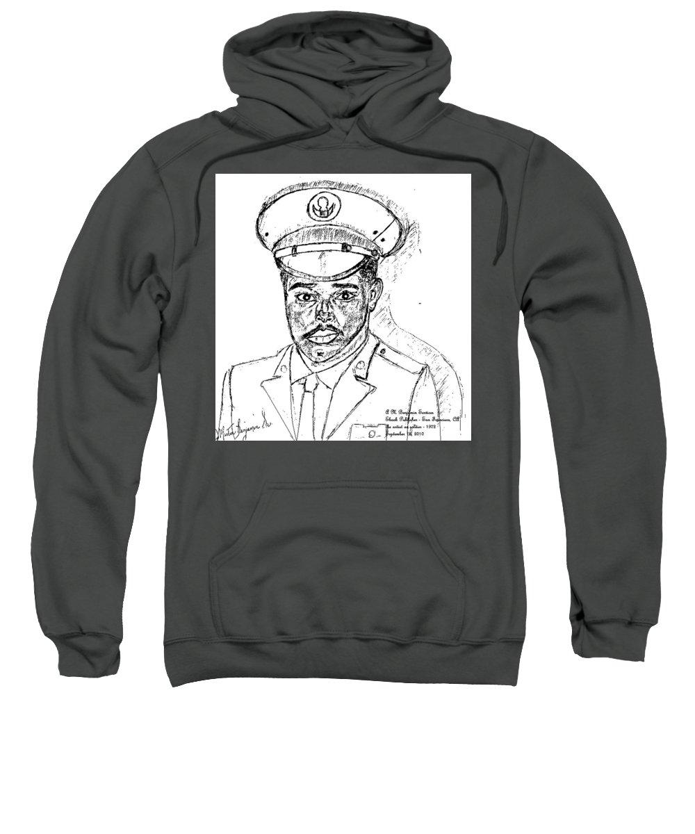 Soldier Sweatshirt featuring the digital art Self Portrait As Soldier by Anthony Benjamin