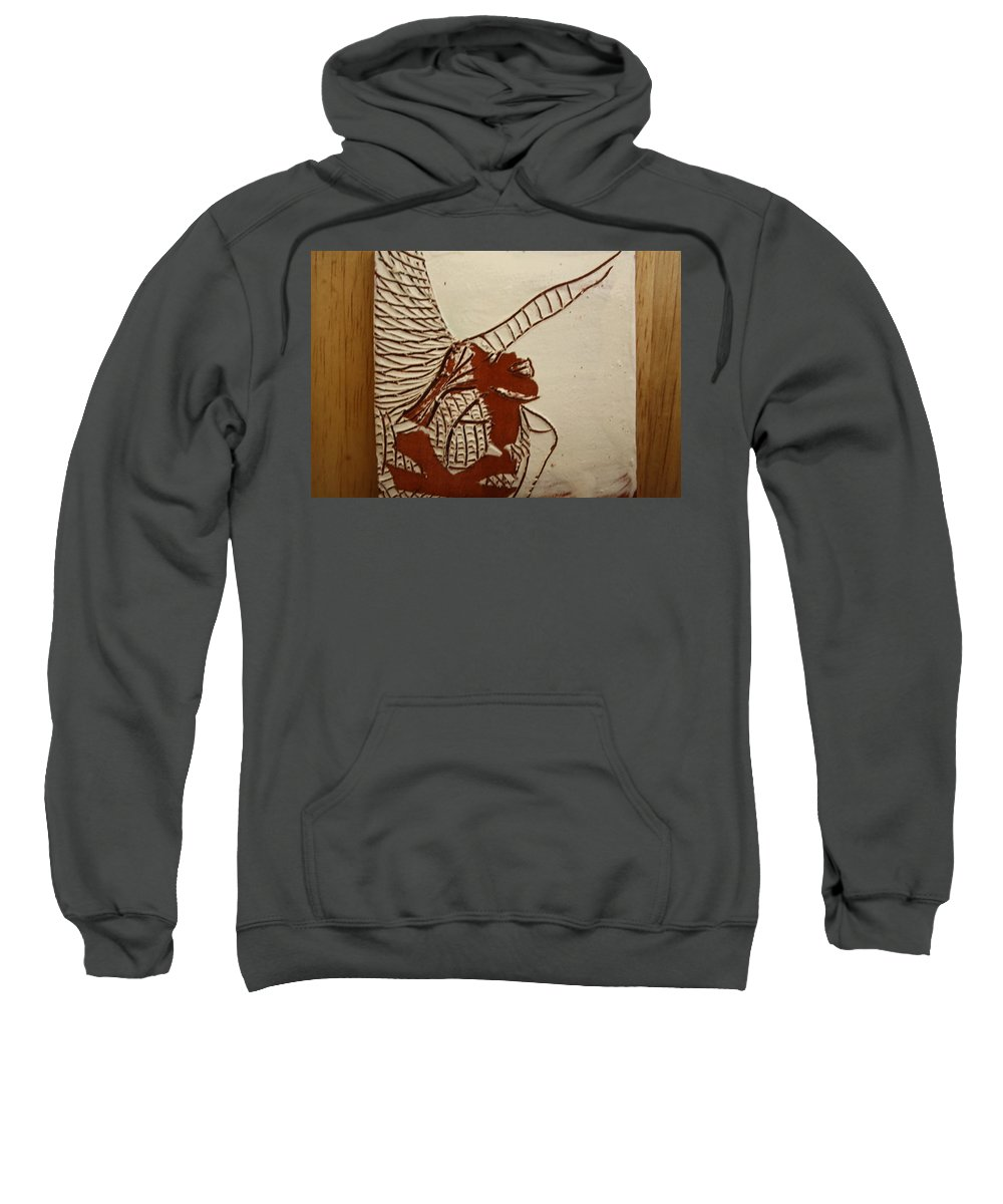 Jesus Sweatshirt featuring the ceramic art Selina - Tile by Gloria Ssali