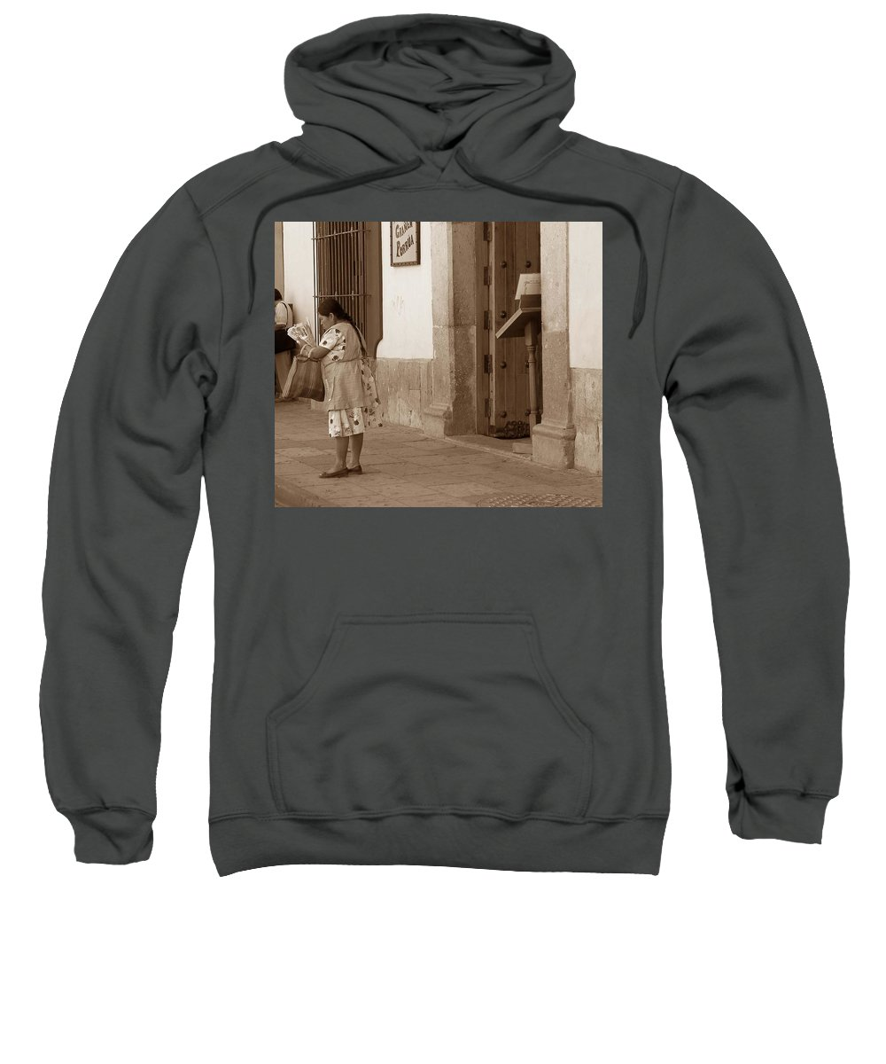 Charity Sweatshirt featuring the photograph Senora by Mary-Lee Sanders
