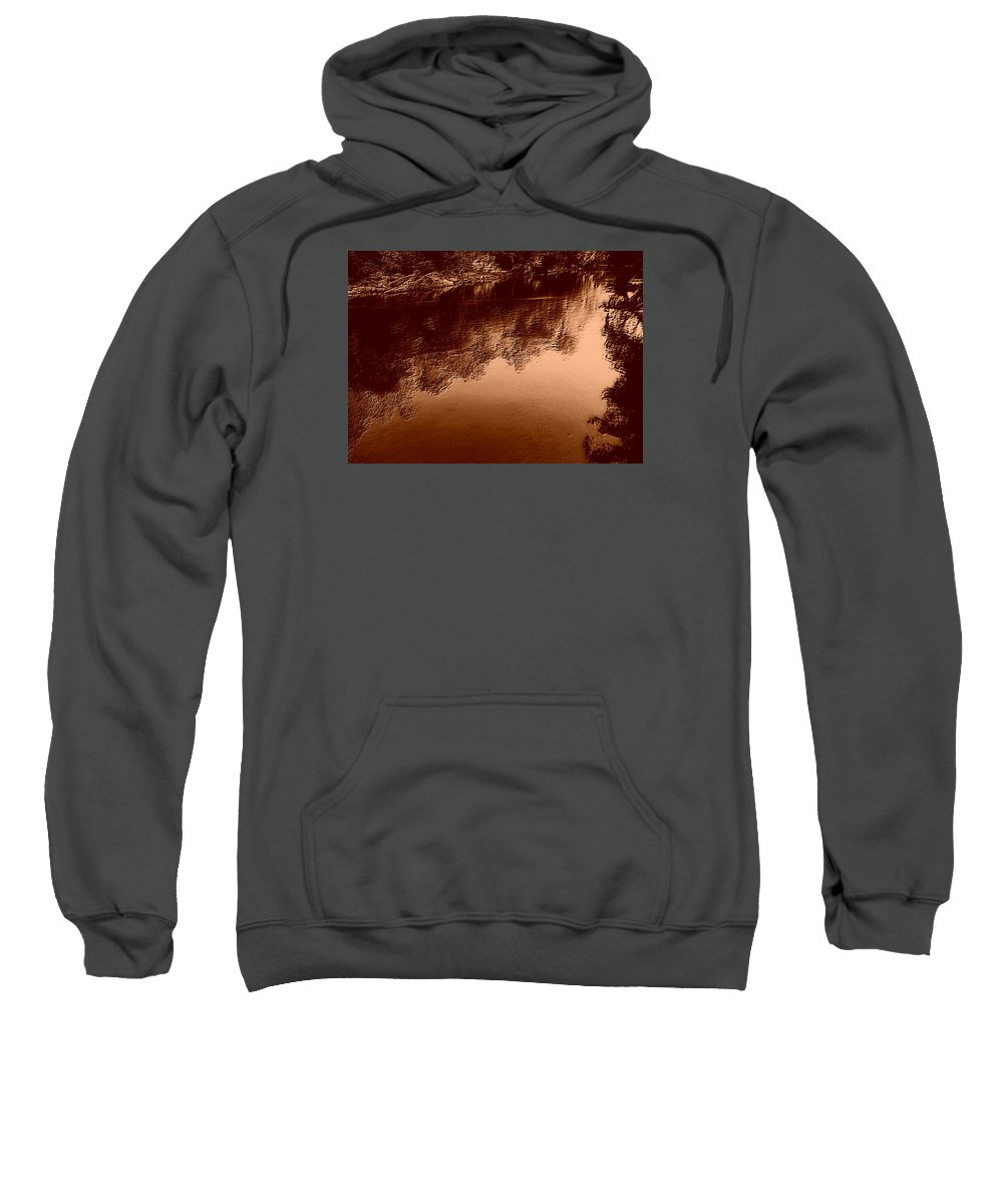 River Sweatshirt featuring the photograph Sepia River by Dawn Mullis