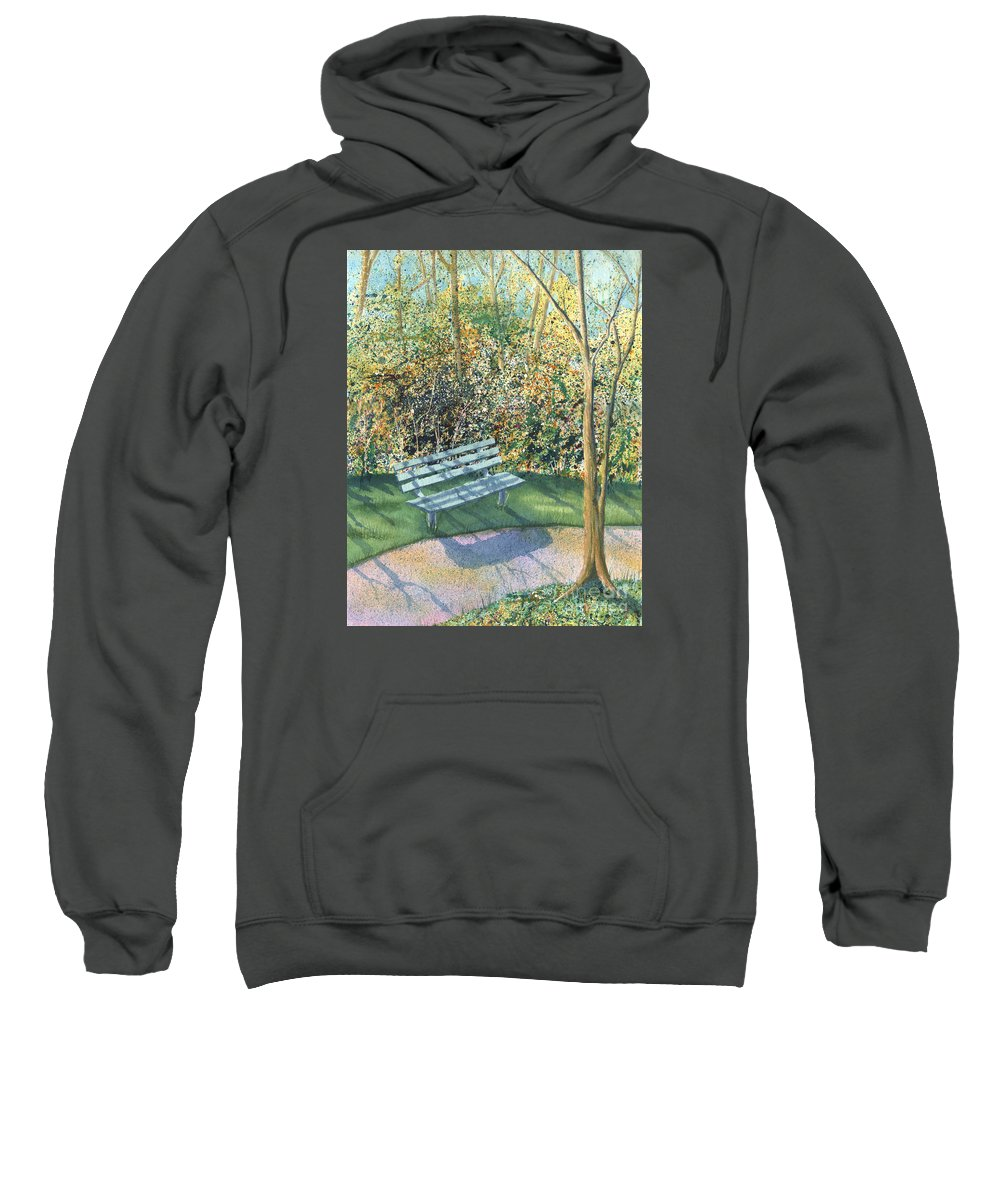 Autumn Trees Sweatshirt featuring the painting September Afternoon by Lynn Quinn