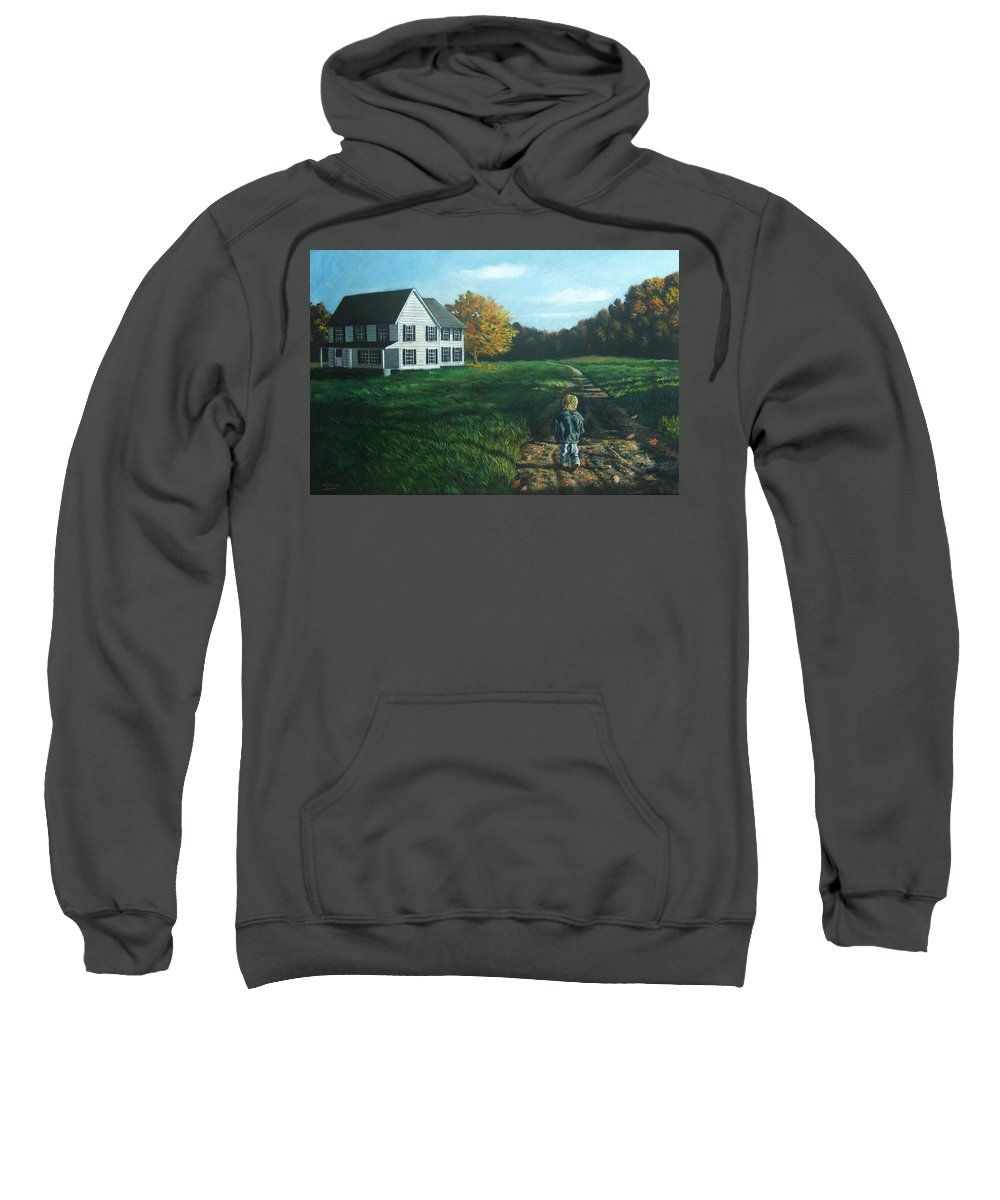 Pennsylvania Sweatshirt featuring the painting September Breeze Number 4 by Christopher Shellhammer