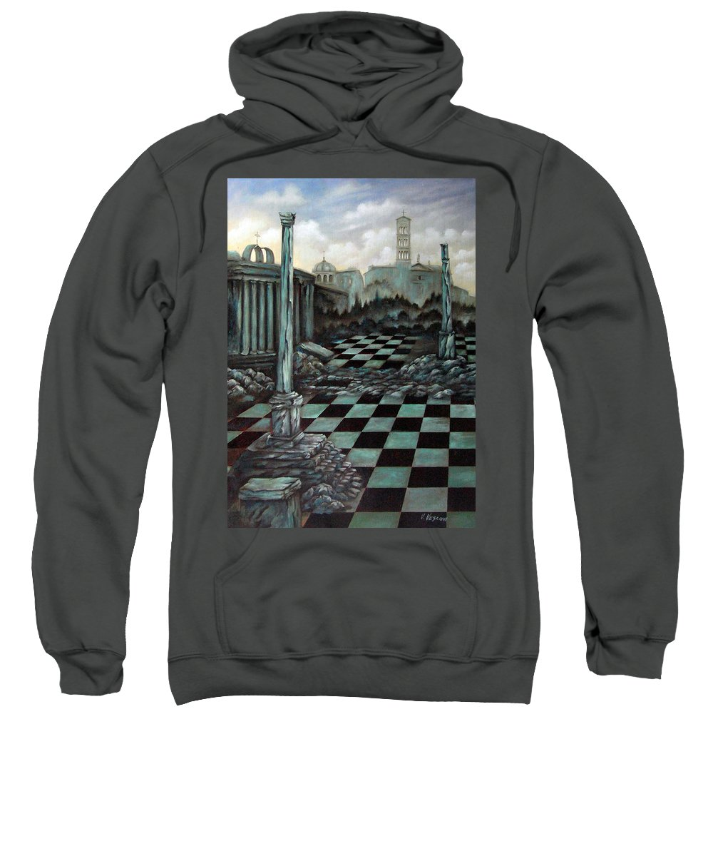 Surreal Sweatshirt featuring the painting Sepulchre by Valerie Vescovi