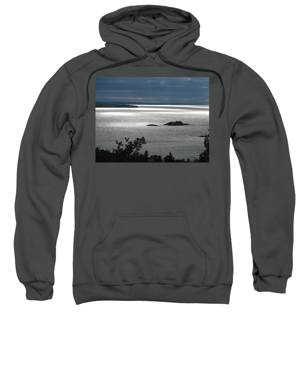 Lake Sweatshirt featuring the photograph Serenity by Kelly Mezzapelle