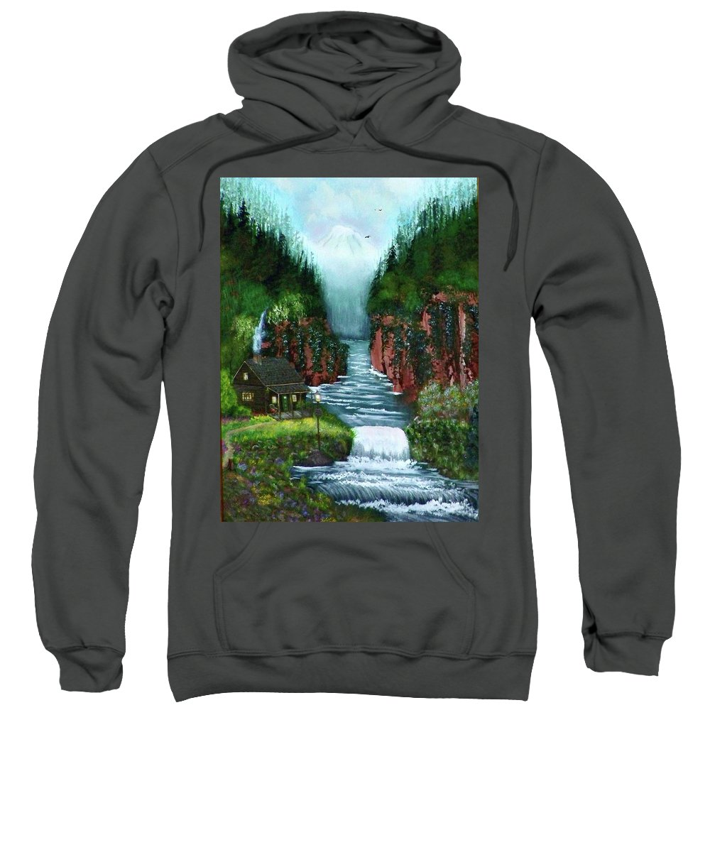 Photography Sweatshirt featuring the photograph Serenity Valley by Laurie Kidd