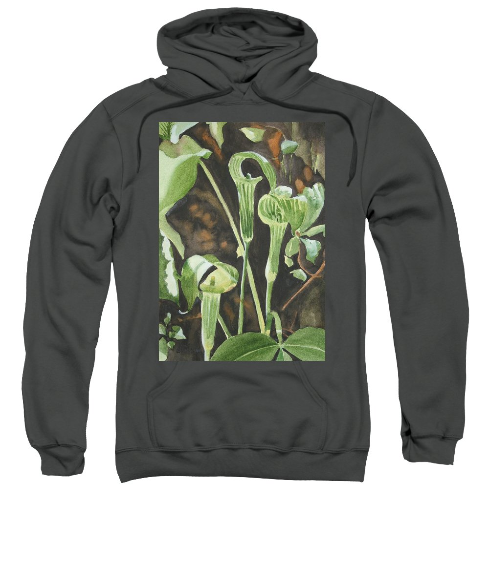 Woods Sweatshirt featuring the painting Sermon In The Woods by Jean Blackmer