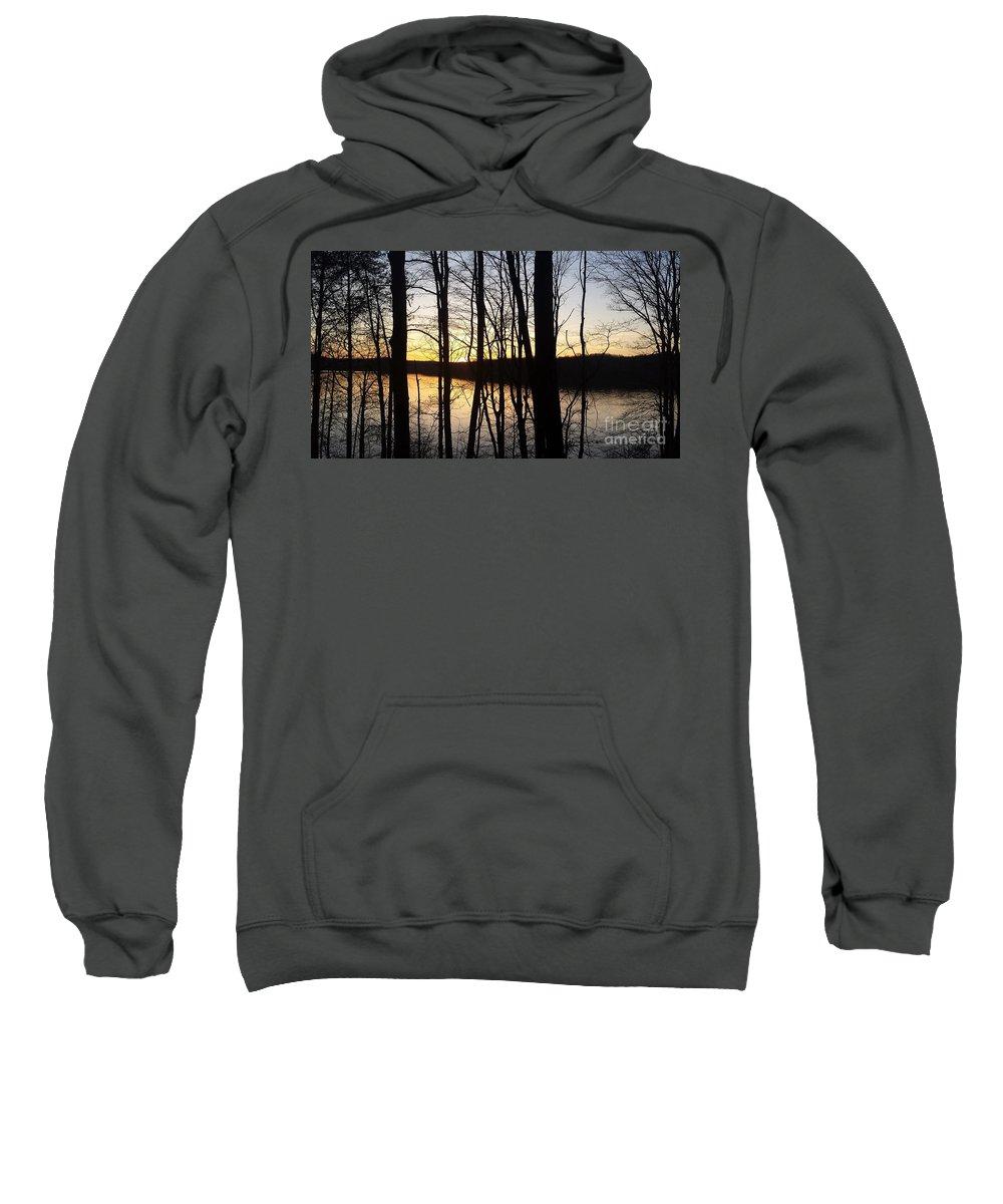 Monroe Sweatshirt featuring the photograph Setting Sun On Monroe Lake Bloomington Indiana by Scott D Van Osdol