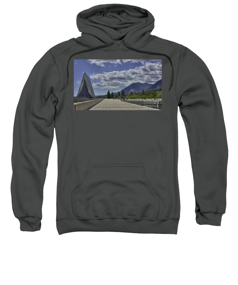 United States Air Force Academy Sweatshirt featuring the photograph Seventeen Spires by David Bearden