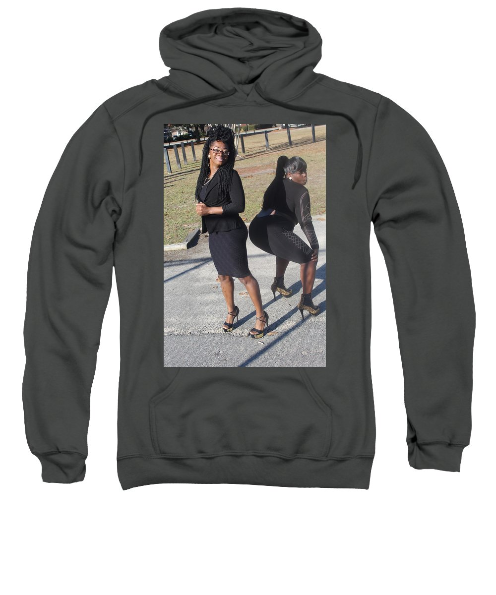 Twerking Sweatshirt featuring the photograph Sexy Friends 9 by Christopher White