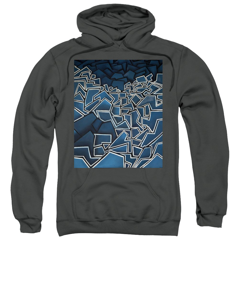 Abstract Sweatshirt featuring the painting Shadderd Space by Thomas Valentine