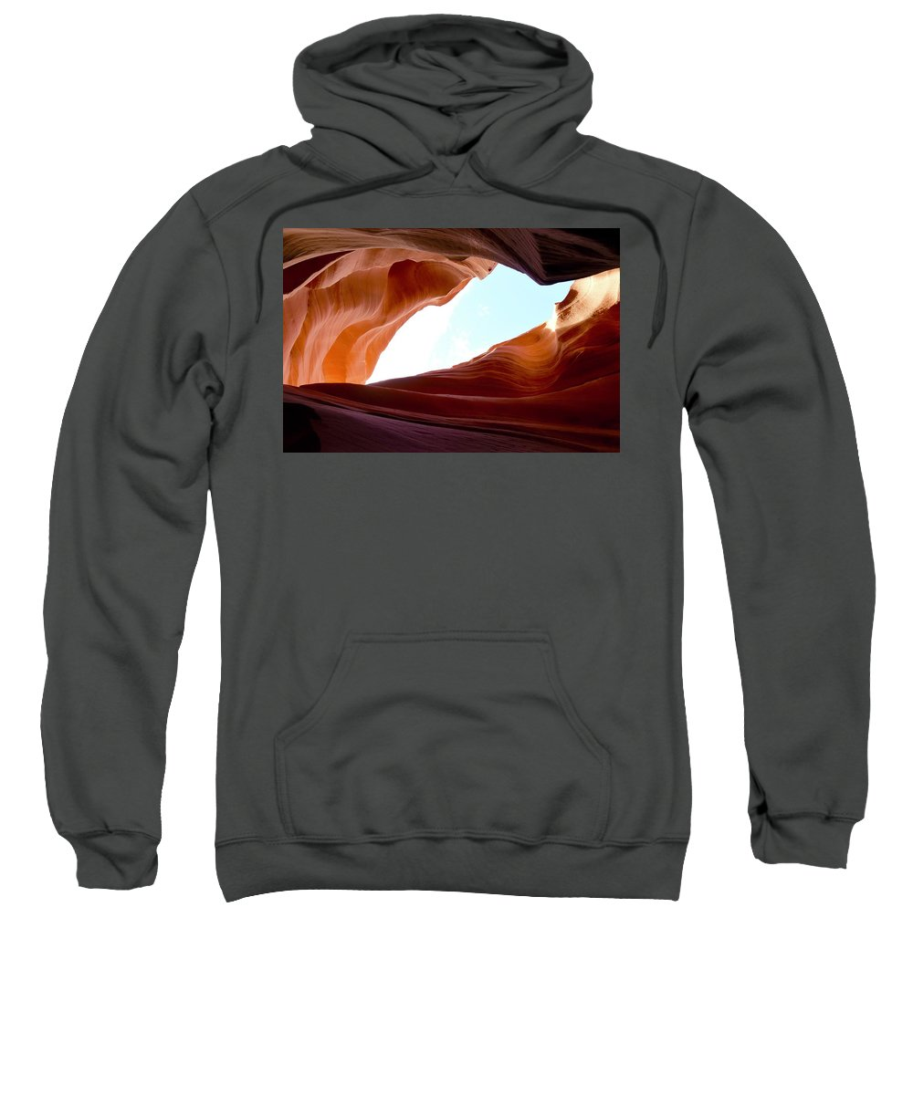 Antelope Canyon Sweatshirt featuring the photograph Shades Of Sandstone by Barbara Stellwagen
