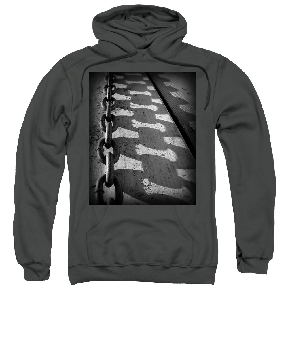 Chain Sweatshirt featuring the photograph Shadow Chain by Perry Webster