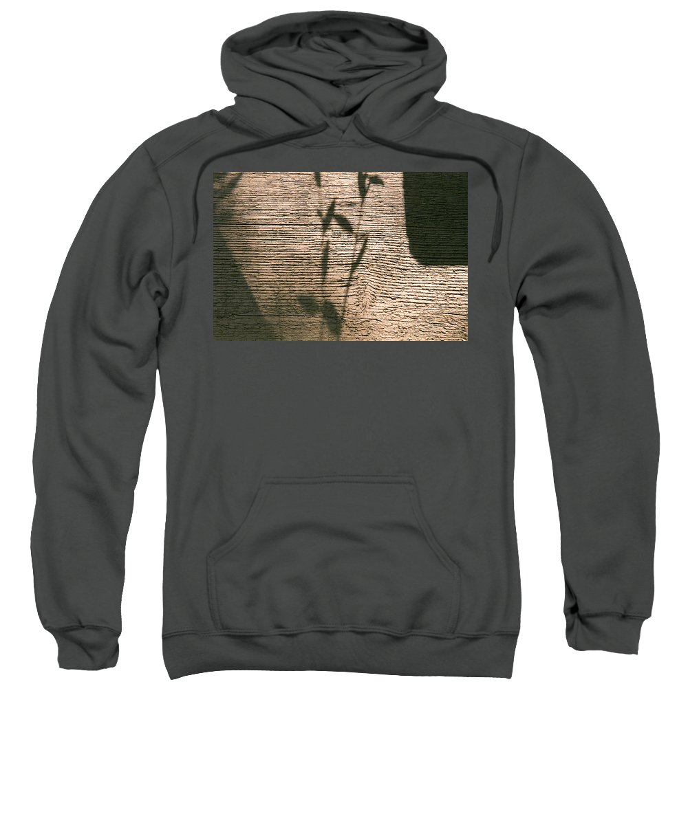 Sweatshirt featuring the photograph Shadow by Clayton Bruster