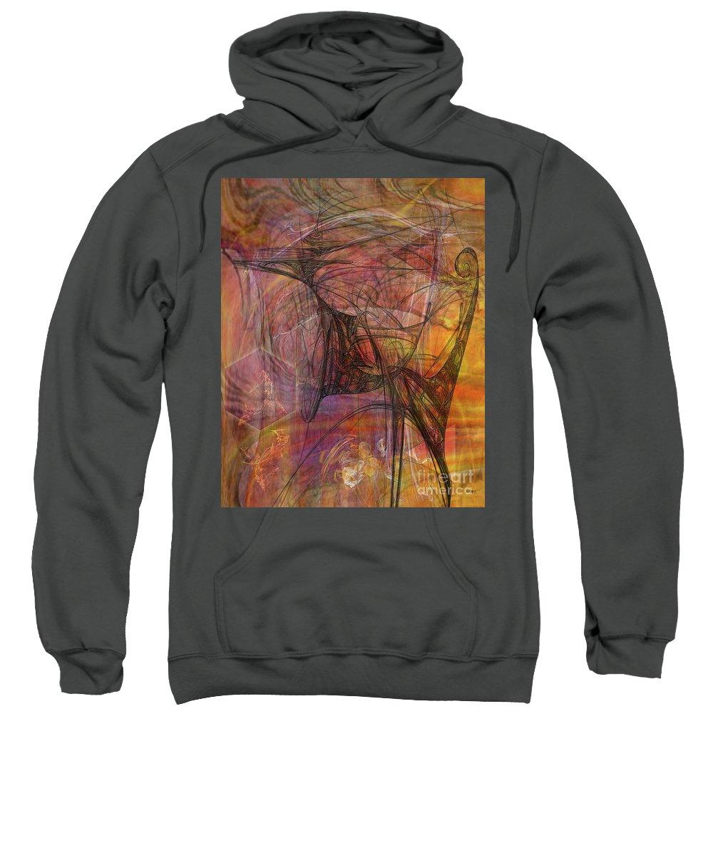Shadow Dragon Sweatshirt featuring the digital art Shadow Dragon by John Beck