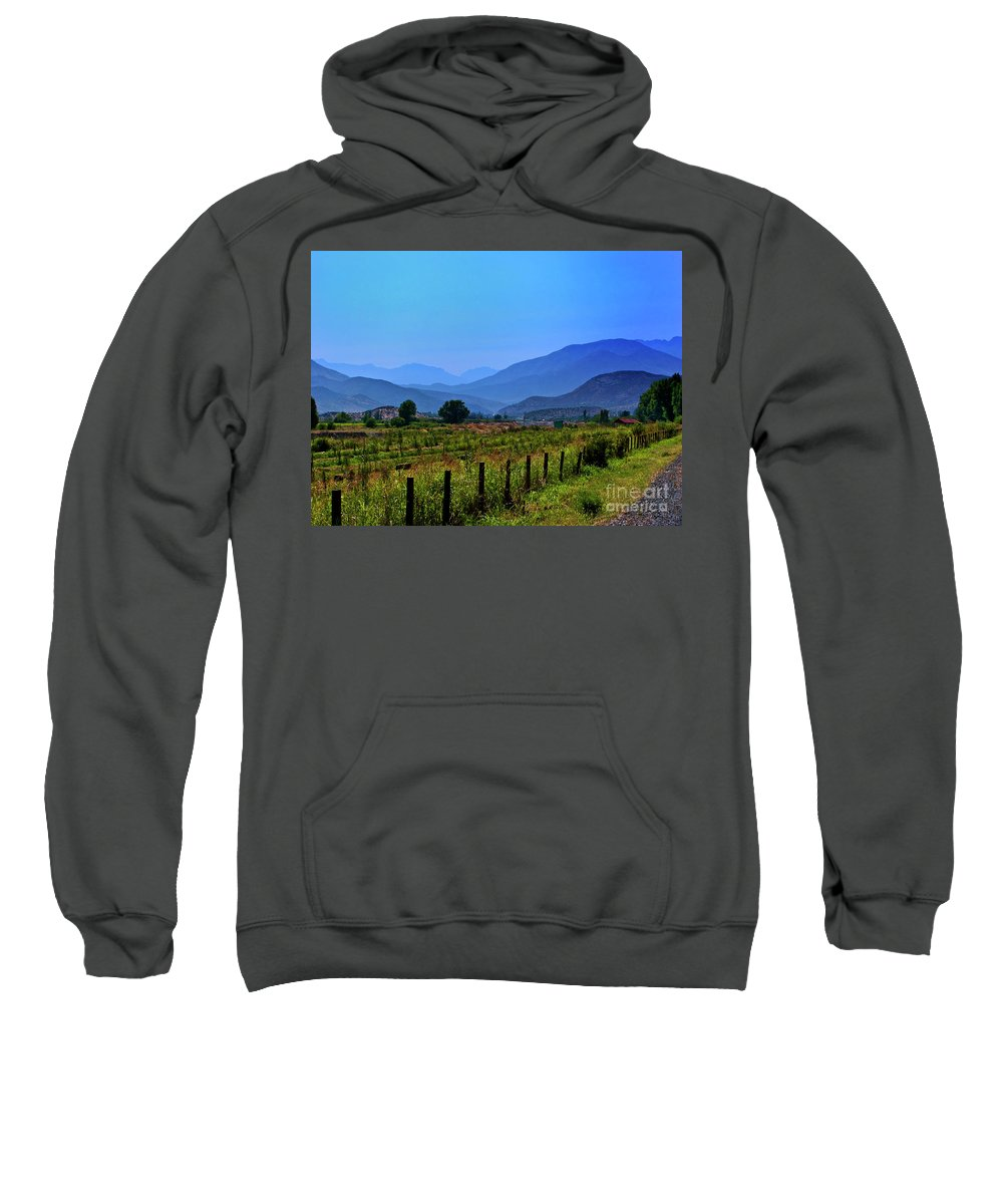 Mountains Sweatshirt featuring the photograph Shadow Mountains by Roberta Bragan