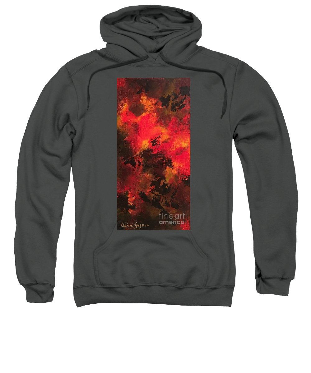 Abstract Sweatshirt featuring the painting Shadows by Claire Gagnon