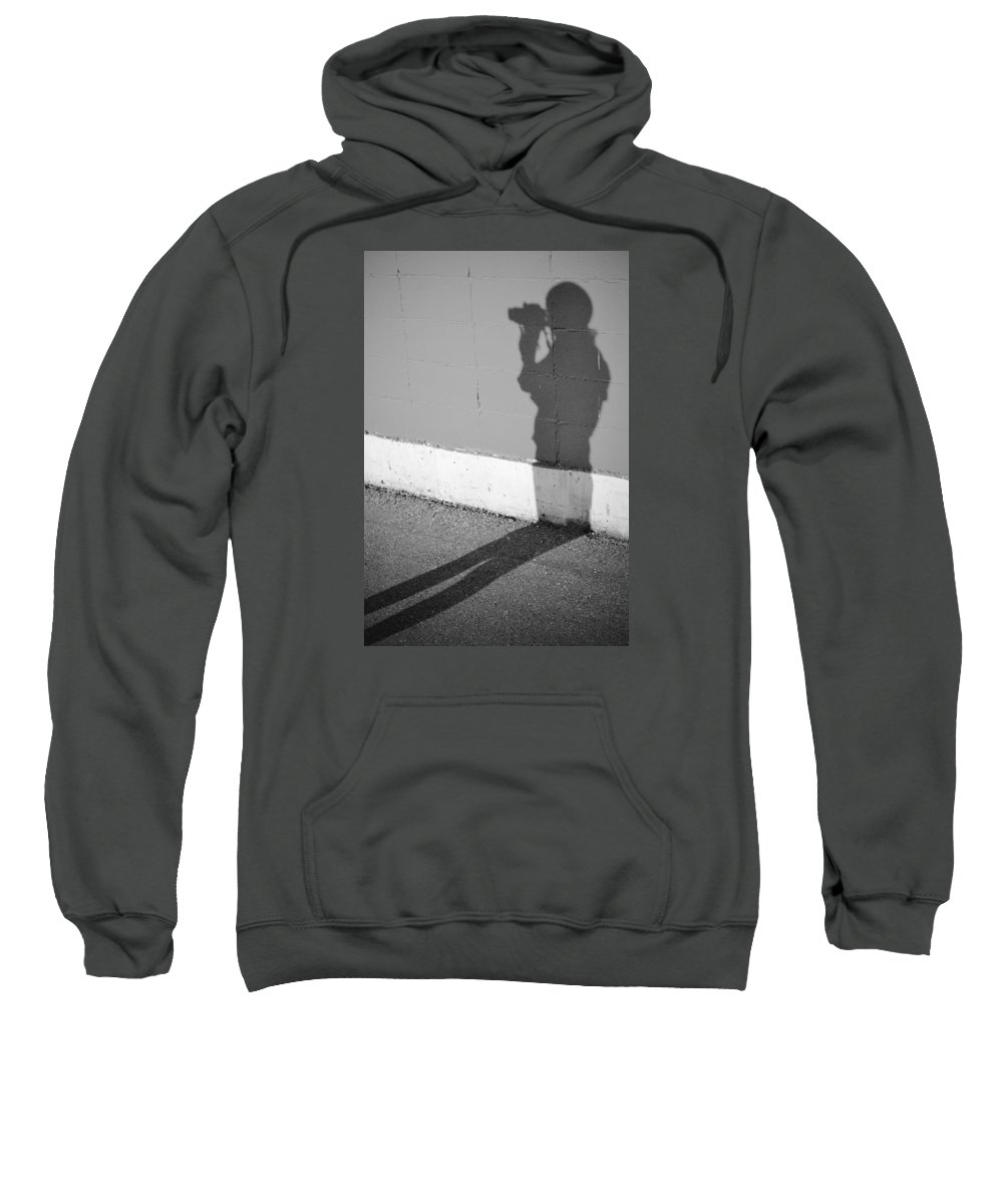 Street Photography Sweatshirt featuring the photograph Shadows I Knew by The Artist Project