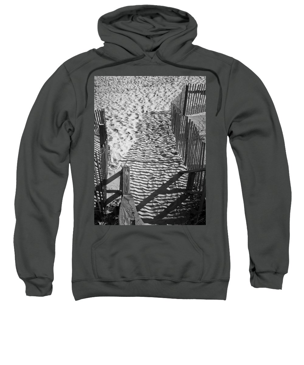 Shadow Sweatshirt featuring the photograph Shadows In The Sand by Teresa Mucha