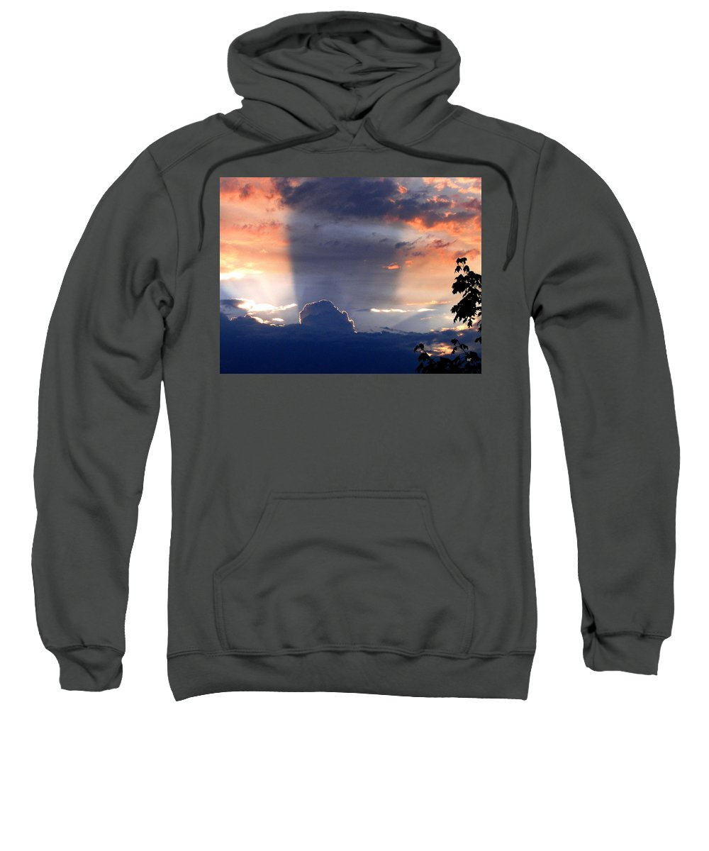 Sunset Sweatshirt featuring the photograph Shadows In The Sky by Will Borden