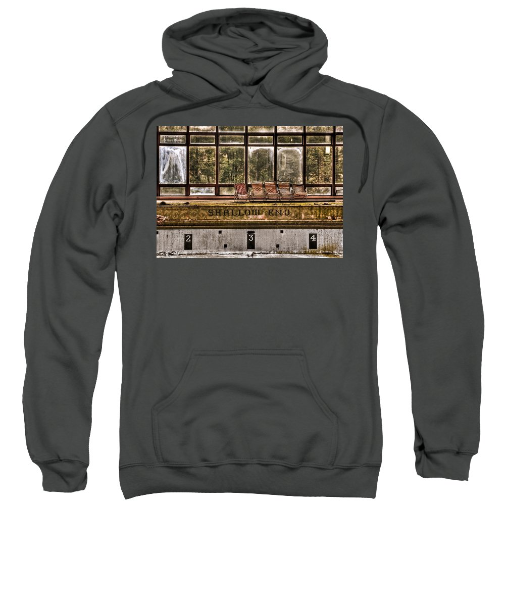 Abandoned Sweatshirt featuring the photograph Shallow End by Evelina Kremsdorf