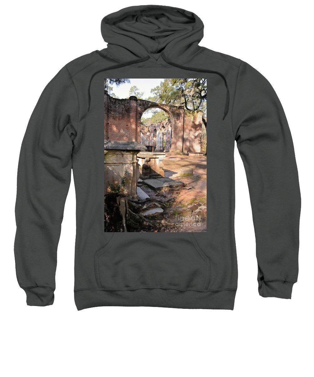 Church Sweatshirt featuring the photograph Sheldon Church by Katherine W Morse