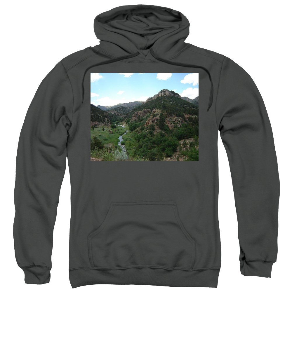 Shelf Road Sweatshirt featuring the photograph Shelf Road Vista by Anita Burgermeister