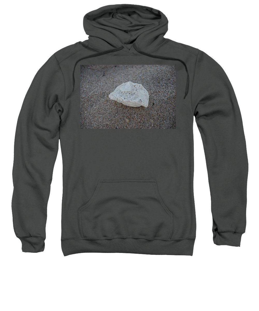 Shells Sweatshirt featuring the photograph Shell And Sand by Rob Hans