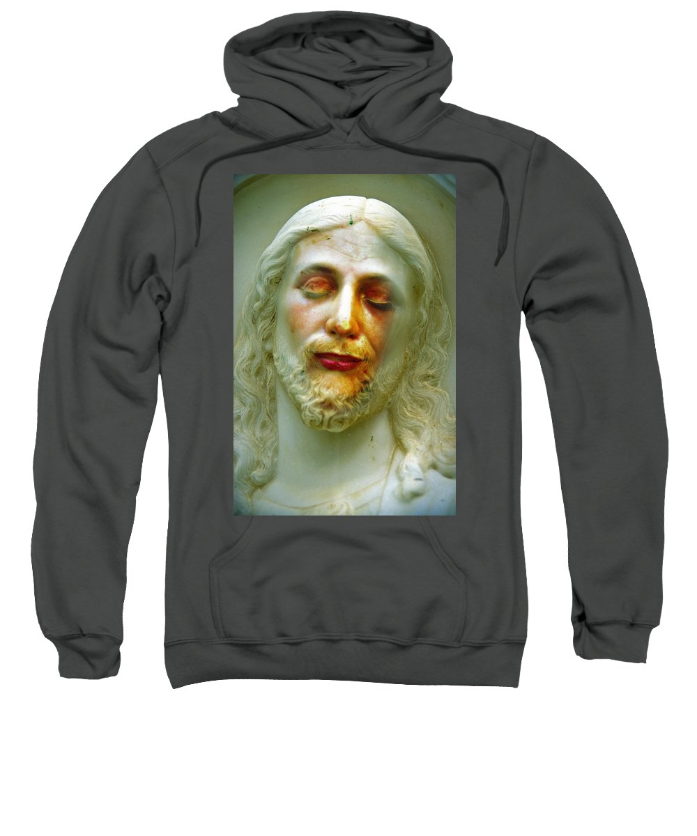Jesus Sweatshirt featuring the photograph Shesus by Skip Hunt