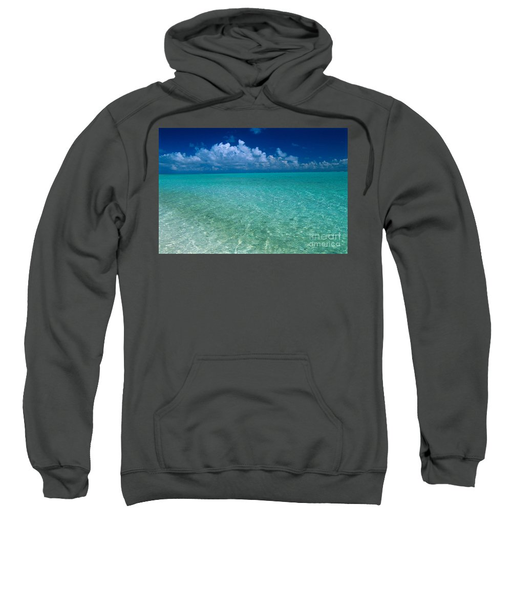 Afternoon Sweatshirt featuring the photograph Shimmering Ocean by Greg Vaughn - Printscapes