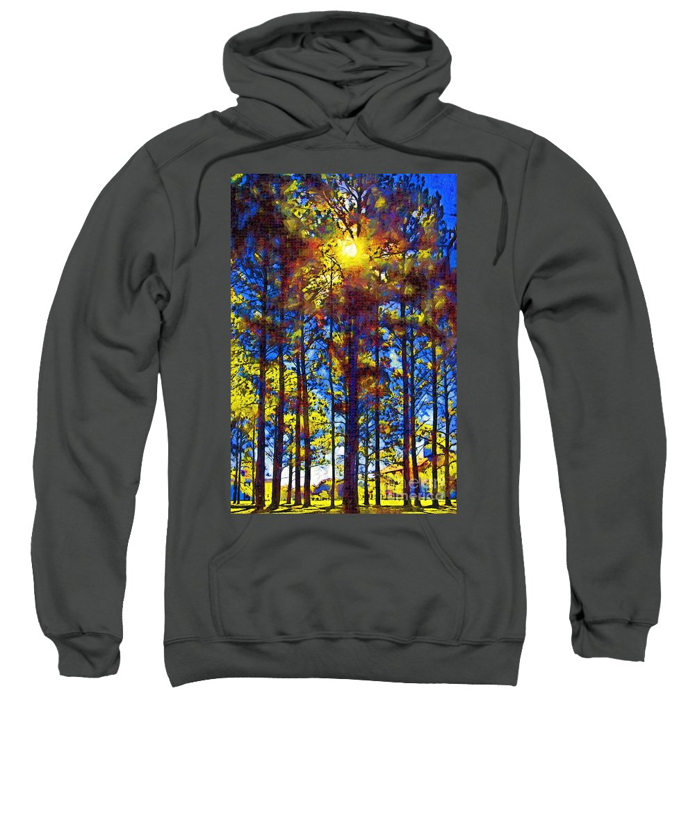 Trees Sweatshirt featuring the photograph Shining Through by Donna Bentley