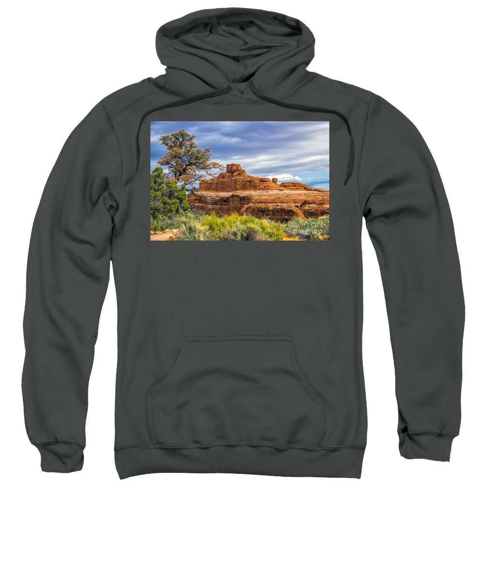Arches Sweatshirt featuring the photograph Ship In The Desert by Roberta Bragan