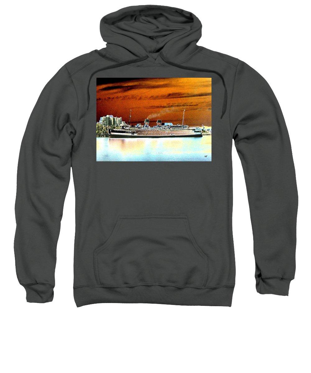 Ship Sweatshirt featuring the digital art Shipshape 2 by Will Borden