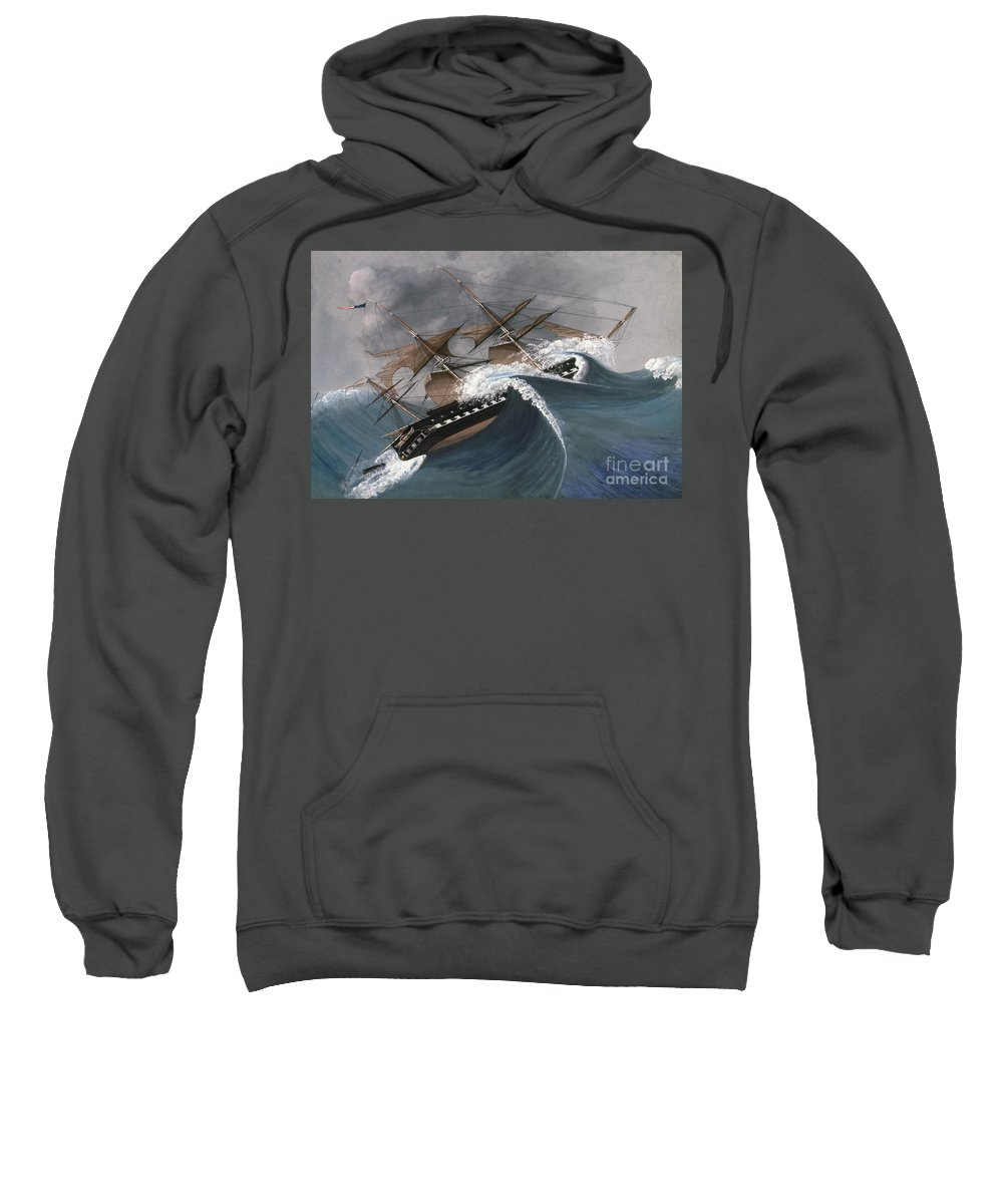 18th Century Sweatshirt featuring the photograph Shipwreck by Granger