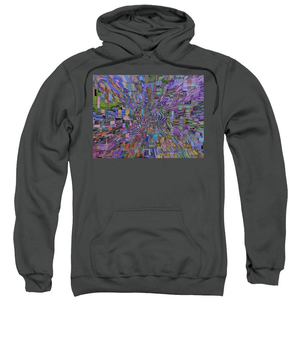 Abstract Sweatshirt featuring the digital art Shockwave by Tim Allen