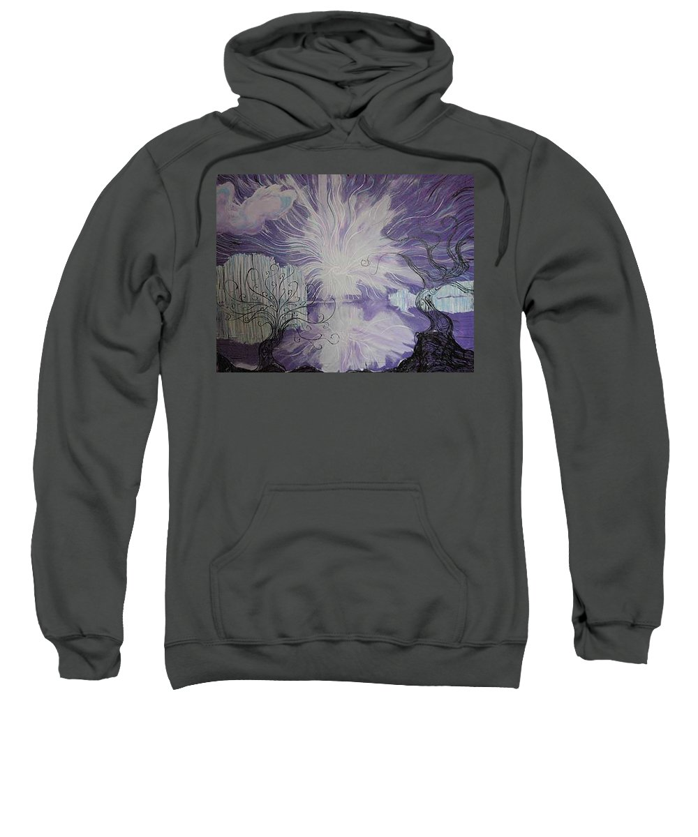 Squiggleism Sweatshirt featuring the painting Shore Dance by Stefan Duncan